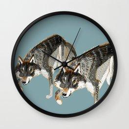 Totem Dark European Wolf Wall Clock