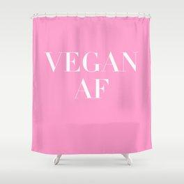 Vegan AF Statement Shower Curtain