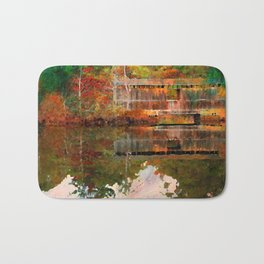 Birch Grove Covered Bridge Bath Mat