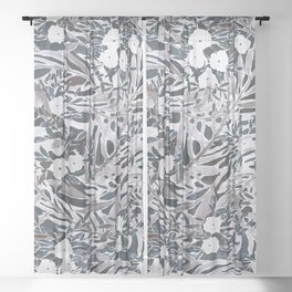 Topical Daydream Deep Natural Sheer Curtain