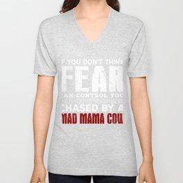 Mad Mama Cow Unisex V-Neck