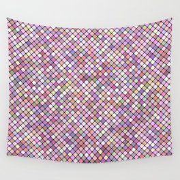 Happy Square Grid Wall Tapestry