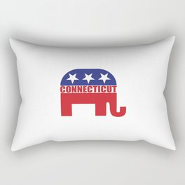 Connecticut Republican Elephant Rectangular Pillow