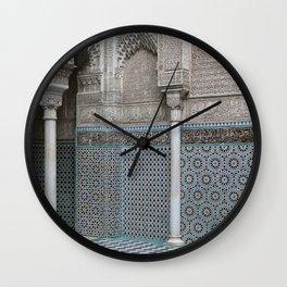 Marocco Columns Mosaic Wall Clock