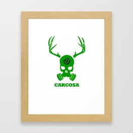 Carcosa Gas Mask Green Framed Art Print