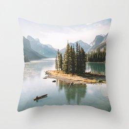 A Canadien Postcard Throw Pillow