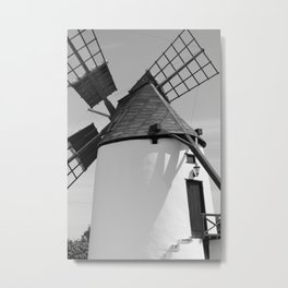 Windmill Antigua Fuerteventura Spain bw Metal Print