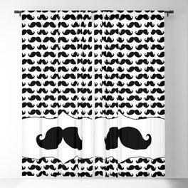 Mustache pattern Blackout Curtain