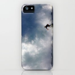 Surfing At The Wedge In Newport Beach, Califonia iPhone Case