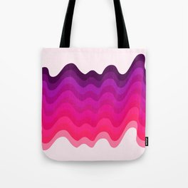 Retro Ripple in Pinks Tote Bag