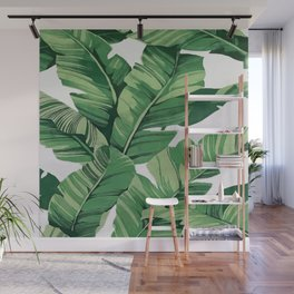 Tropical banana leaves VI Wall Mural