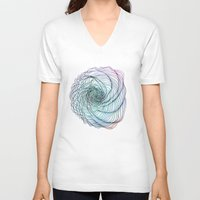 shell V-neck T-shirts featuring Shell by Brontosaurus