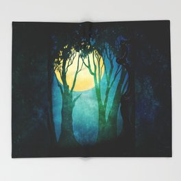 Dance By The Light Of The Full Moon Throw Blanket