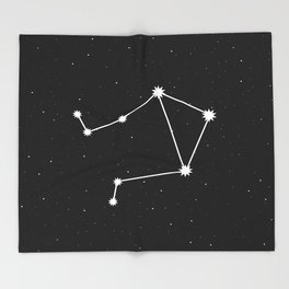 Libra Astrology Star Sign Throw Blanket