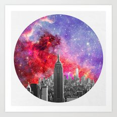 NEBULA NEW YORK Art Print