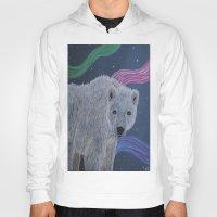 polar bear Hoodies featuring Polar Bear by Renee Trudell