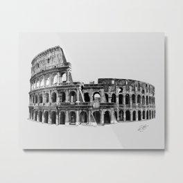 Colosseum Drawing Metal Print