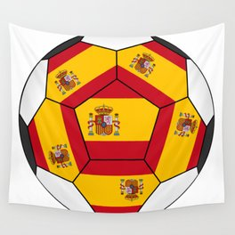 Soccer ball with Spanish flag Wall Tapestry