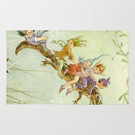 """The Pond Fairies"" by Margaret Tarrant Rug"