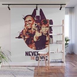 Han Solo & Chewbacca Wall Mural