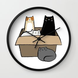 Cats in a Box Wall Clock