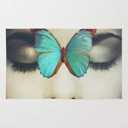 Eyes Closed Butterfly Rug