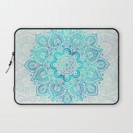 Turquoise Lace Mandala Laptop Sleeve