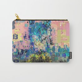 Bat Type Man - Abstract Pop Art Comic Carry-All Pouch