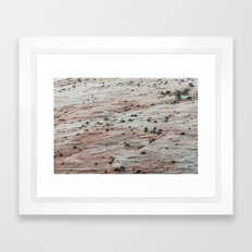 Rock Slide (Zion National Park, Utah) Framed Art Print