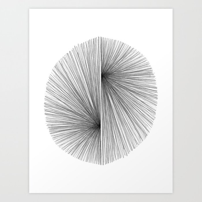 Mid Century Modern Geometric Abstract Radiating Lines Kunstdrucke