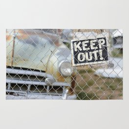 Keep Out Sign Rug