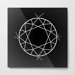 Round cut diamond invert Metal Print