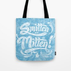 Smitten with the Mitten (Blue Version) Tote Bag