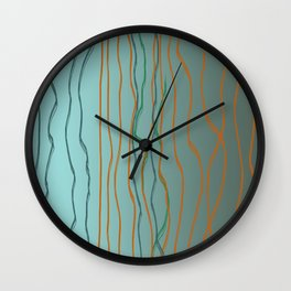20180625 Lines up and down No. 2 Wall Clock