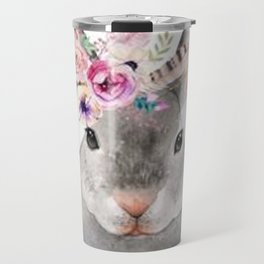 Rabbits Flower Crown Travel Mug