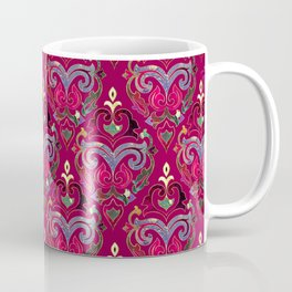 Persian Floral pattern  with painted texture and gold Coffee Mug