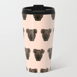 Pitbull dog breed pet portrait pattern gifts pillow with pitbull cute puppy Travel Mug