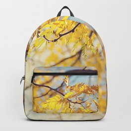 Gold Leaves and Blue Sky Backpack