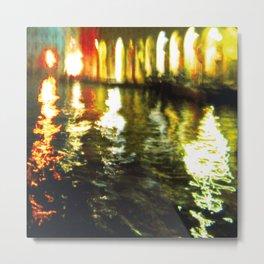 City Lights: Venice – Canal Grande – Mercato # 210 Metal Print