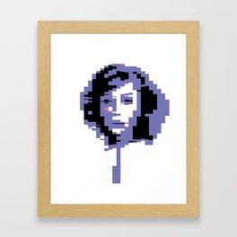 8 Bit Portrait of a Girl Framed Art Print