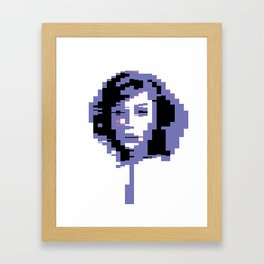 8 Bit Portrait of a Girl Framed Art Print
