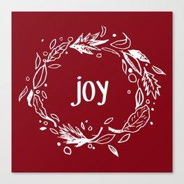 Joy in white Canvas Print