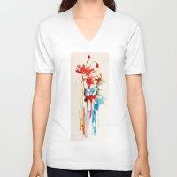 splash V-neck T-shirts featuring Splash by zeze