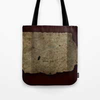 goonies Tote Bags featuring Goonies Treasure Map by IndestrucTibBo