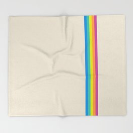 Rainbow - vintage photo Throw Blanket