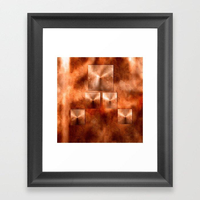 Penny Pyramids Framed Art Print