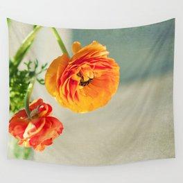 Orange you beautiful Ranculus? Wall Tapestry