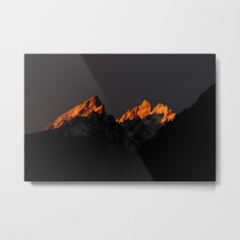 Good Morning Tetons Metal Print