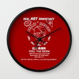 Bernie Sanders Sriracha Style Feel The Bern Wall Clock