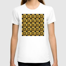 Art Deco-Like Pattern: 24-Karat Gold Casino Chips T-shirt